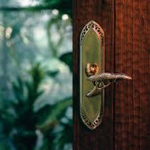 Ornamental front door handle